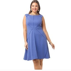 Adrianna Papell periwinkle occasion dress